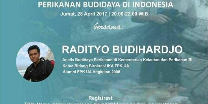 Diskusi Online: Terobosan Pemerintah dalam Pengembangan Perikanan Budidaya di Indonesia