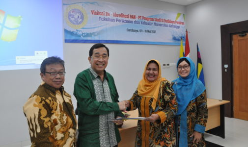 Visitasi BAN PT Re Akreditasi Program Studi S1 BUdidaya Perairan