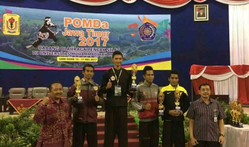 Students Faculty of Fisheries and Marine UNAIR incised champion in East Java Student Sports Week