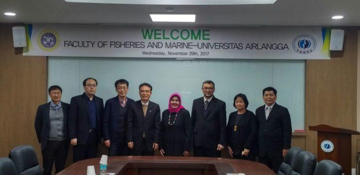 Kunjungan Pimpinan Fakultas Perikanan dan Kelautan Universitas Airlangga ke Pukyong National University (PKNU)