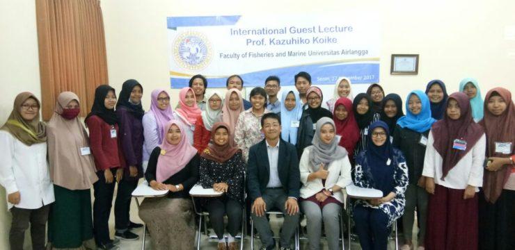 Fakultas Perikanan dan Kelautan UNAIR Undang Profesor dari Hiroshima University Dalam Kegiatan Visiting Professor