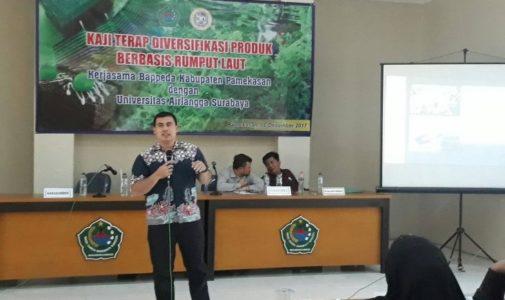 Maksimalkan Potensi Olahan Rumput Laut, BAPPEDA Kabupaten Pamekasan Undang Tiga Dosen FPK UNAIR  Beri Penyuluhan Kepada Petani Rumput Laut