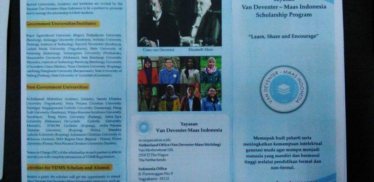 Penawaran Beasiswa Van Deventer Maas Stichting