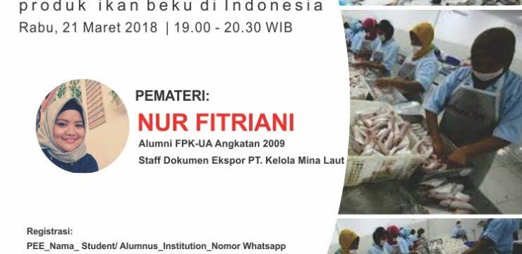 Diskusi Online Alumni: Bedah Dokumen Ekspor Produk Ikan Beku di Indonesia