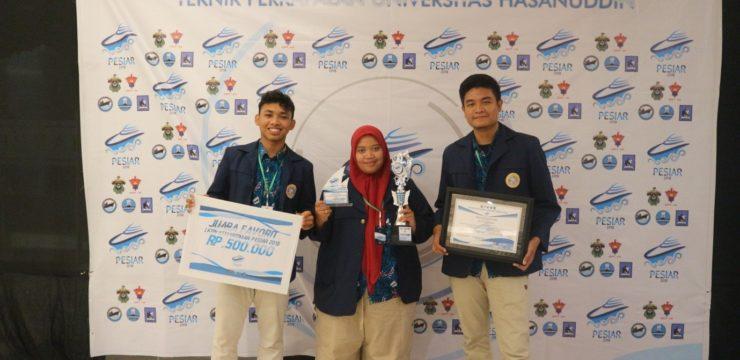 Mahasiswa Fakultas Perikanan dan Kelautan UNAIR Juara Favorite Pekan Nasional Kemaritiman (PESIAR 2018)