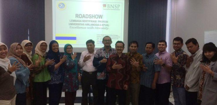 Road Show Lembaga Sertifikasi Profesi (LSP) UNAIR Road Show Ke Fakultas Perikanan dan Kelautan