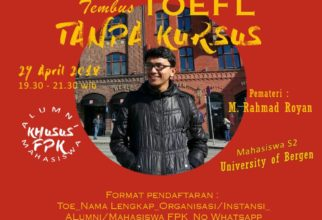Diskusi Online: Tembus TOEFL Tanpa Kursus