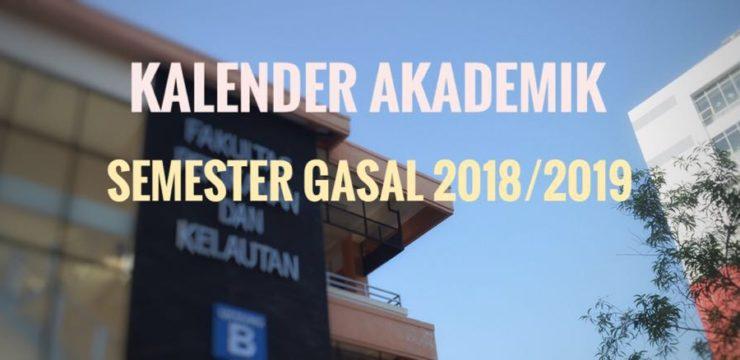 Kalender Akademik Semester Gasal 2018/2019 Fakultas Perikanan dan KelautanUNAIR