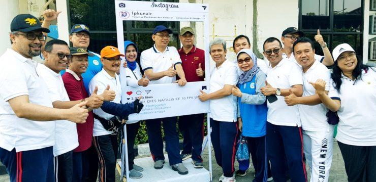 Jalan Sehat dan Senam pagi Warnai Peringatan Dies Natalis Ke-10 Fakultas Perikanan dan Kelautan Universitas Airlangga
