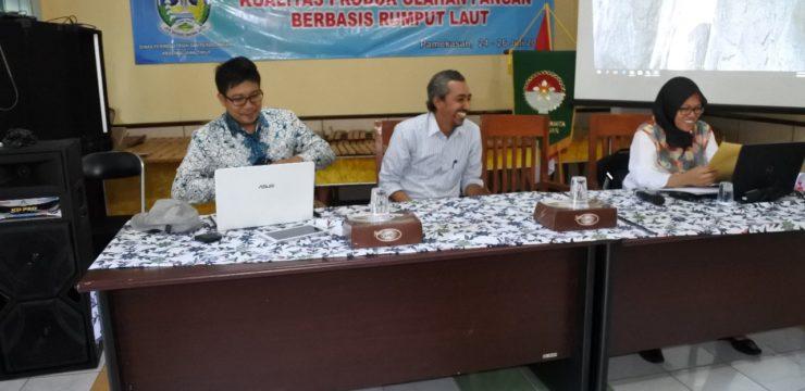 Bekerjasama Dengan Dinas Perindustrian dan Perdagangan Jawa Timur, Dosen FPK UNAIR Kenalkan Metode Budidaya Rumput Laut