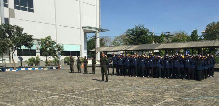PENGEMBANGAN KEDISIPLINAN (UPGRADING) PANITIA PKKMB FPK 2019 BERSAMA RESIMEN MAHASISWA 801 UNAIR