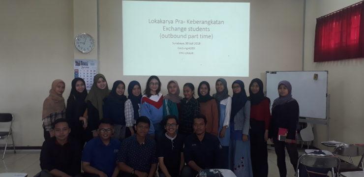 LOKAKARYA PRA KEBERANGKATAN EXCHANGE STUDENTS OUTBOUND KE UNIVERSITI MALAYSIA TERENGGANU (UMT)