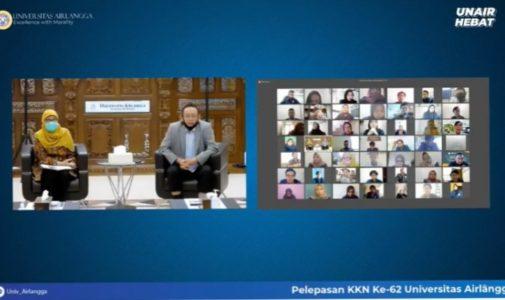 UNAIR RECTOR RELEASES 3189 KKN PARTICIPANTS TO 28 PROVINCES ONLINE