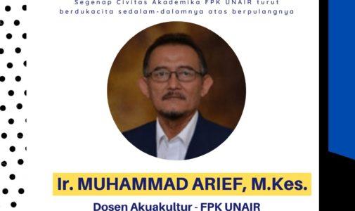 Mengenang Pengabdian dan Perjuangan Ir. M. Arief., M.Kes di Fakultas Perikanan dan Kelautan