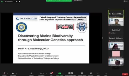 Workshop barcoding DNA, FPK Unair Kerjasama dengan Oceanogen