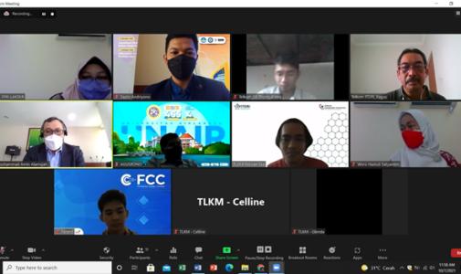 Virtual meeting FPK dalam rangka melanjutkan Kerjasama dengan PT. Telkom Indonesia